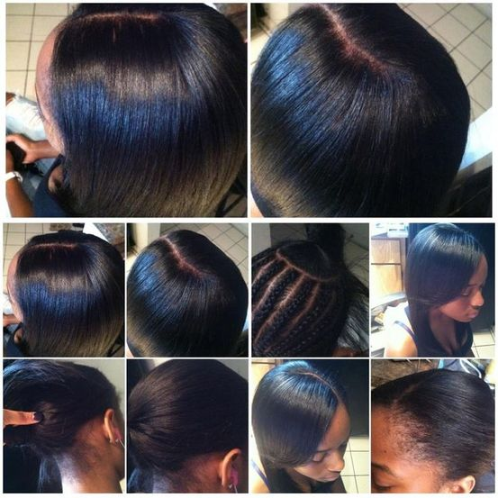 Braid Pattern For Middle Part Sew In - Pattern Design Inspiration ...